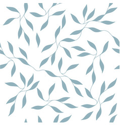 Ornate small leaves on branches seamless pattern vector