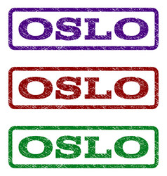 oslo watermark stamp vector image
