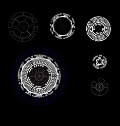 parts of technology background vector image