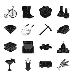 Party cafe jewelry fitness and other web icon vector