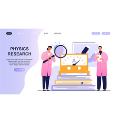 Physics lab with working people scientist teamwork vector