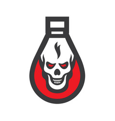 poison bottle sign vector image