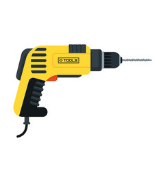 Power tools drill vector