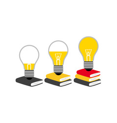 reading and generating ideas concept vector image