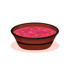 red beet soup bulgarian cuisine national food vector image