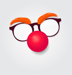 red nose day carnival goggles with a red nose vector image vector image