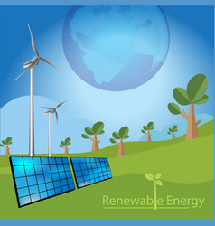 Renewable energy concept vector