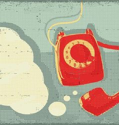 Retro old telephone vector
