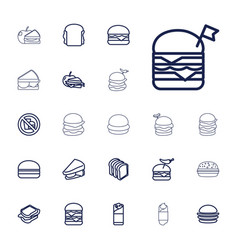 Sandwich icons vector
