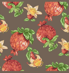Seamless pattern for textile with blooming vector