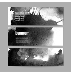set of three banners ink vector image