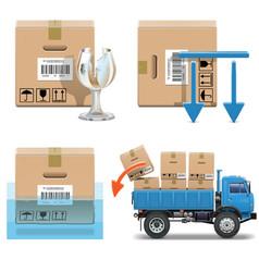 Shipment Icons Set 31 vector image