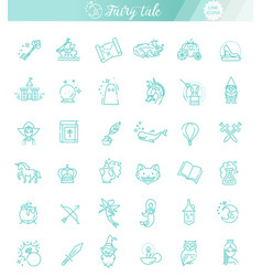 simple set of fantasy related line icon vector image
