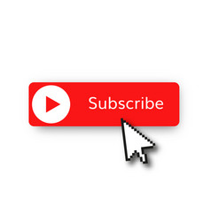 subscribe red button vector image
