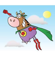 Super hero cow cartoon vector