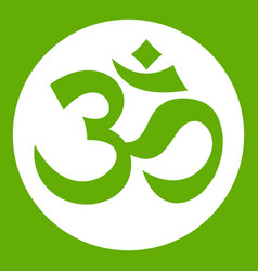 symbol aum icon green vector image