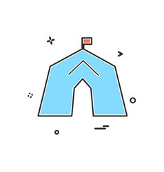 tent icon design vector image