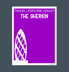 The gherkin london uk monument landmark brochure vector