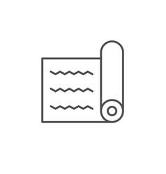 Tourist mat line outline icon vector