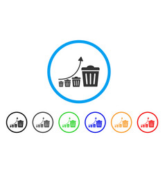 Trash growing trend icon vector