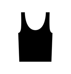 Undershirt icon tank top isolated on vector