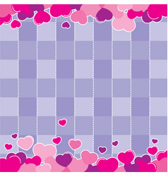 valentine purple background design vector image