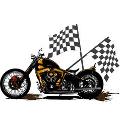 Vintage chopper motorcycle vector