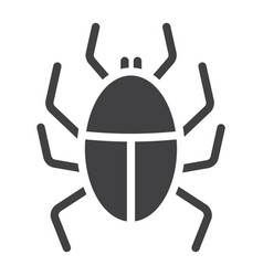 Virus solid icon infection and security vector