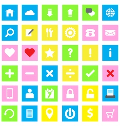 web icon flat style on rectangle vector image