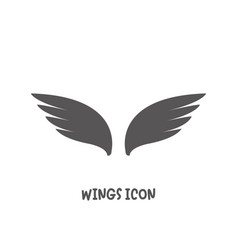 wings icon simple flat style vector image