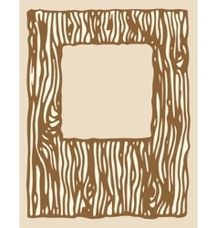 Wood texture photo frame vector