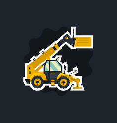 yellow telehandler special equipment the object vector image