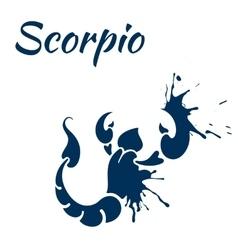 zodiac sign Scorpio vector image