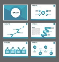 Blue polygon presentation templates Infographic vector image
