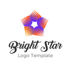 colorful star logo design template modern star vector image