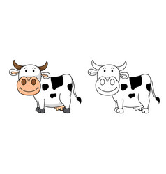 educational coloring book-cow vector image
