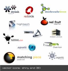 logo icon set 12 pieces vector image vector image