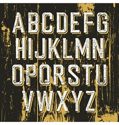 Vintage retro typeface on wooden texture with vector image vector image