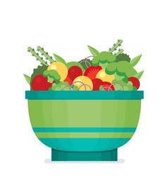a flat salad vector image vector image