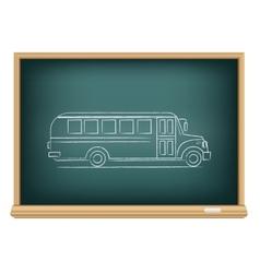 board school bus side view vector image