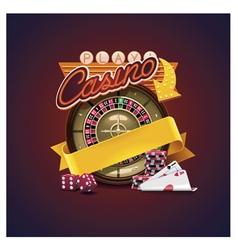 casino icon vector image vector image