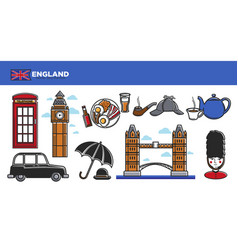 england travel destination promotional poster with vector image vector image