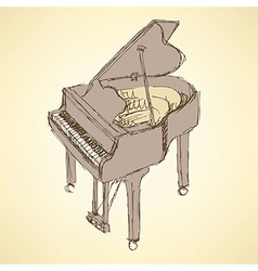 Sketch piano musical insrument vector image vector image