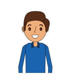 cartoon smiling man young character portrait vector image