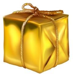 Gold Christmas Present vector image