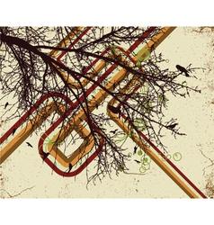 grunge retro background vector image vector image