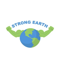 Strong Earth Planet bodybuilder with huge muscles vector image vector image