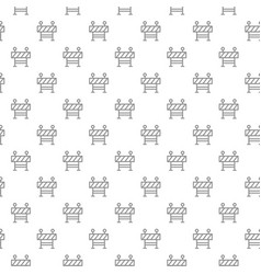 unique digital fence seamless pattern with various vector image vector image