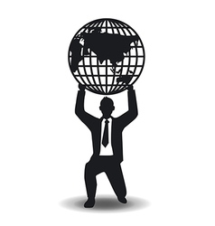 Business and financial with world concept vector image vector image