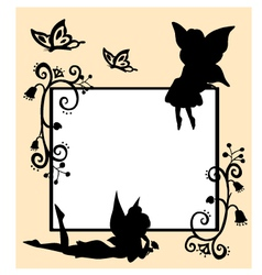 fairies silhouette vector image